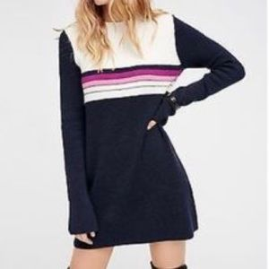Free people skyfall color block sweater dress Xs